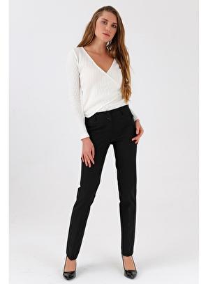 Jument Yüksek Bel Dar Paça Uzun Pantolon